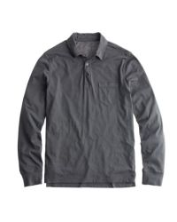 J.Crew | Gray Broken-In Long-Sleeve Pocket Polo Shirt for Men | Lyst
