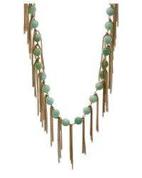 Rosantica - Light Green California Dipped Opal Necklace - Lyst