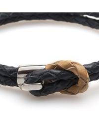 Miansai   Blue Savoy Navy Leather Woven Bracelet for Men   Lyst