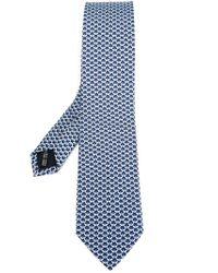 Ferragamo - Blue Bee Print Tie for Men - Lyst