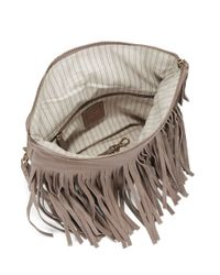Frye   Gray Heidi Leather Shoulder Bag   Lyst