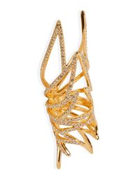 Eddie Borgo | Metallic Gold-plated Pave Wing Ring | Lyst