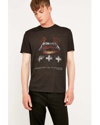 Urban Outfitters - Black Metallica Tee for Men - Lyst