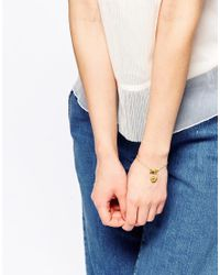 Les Nereides | Metallic Pansy Delicate Bracelet | Lyst
