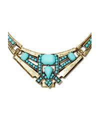 Nasty Gal - Blue Maria Collar Necklace - Lyst