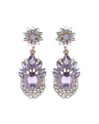 Mikey | Purple Flower Drop Fillagary Flower Earring | Lyst