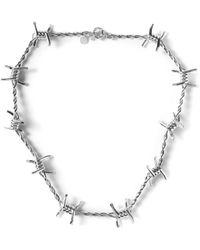 Ambush | Metallic Silver Classic Chain 3 Necklace for Men | Lyst