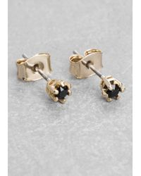 & Other Stories | Metallic Rhinestone Stud Earrings | Lyst