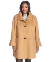 Gallery | Natural Wool Blend Bell Sleeve Coat | Lyst