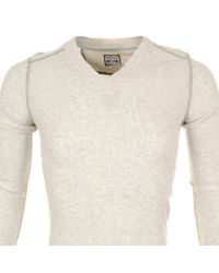 DIESEL | Natural T Ise S T Shirt Cream Marl for Men | Lyst