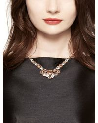 kate spade new york - Pink Make Me Blush Mini Necklace - Lyst