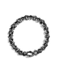 David Yurman - Armory Small Link Bracelet with Black Diamonds for Men - Lyst