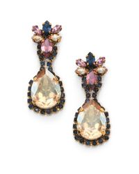 Erickson Beamon | Metallic Happily Ever After Crystal Teardrop Earrings | Lyst