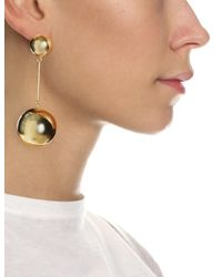 J.W.Anderson | Metallic Gold Sphere Drop Earrings | Lyst