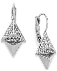 ABS By Allen Schwartz | Metallic Crystal Pyramid Drop Earrings | Lyst