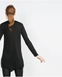 Zara | Black Tunic With Central Slit | Lyst