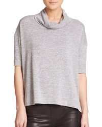 Rag & Bone | Gray Blake Cowlneck Top | Lyst