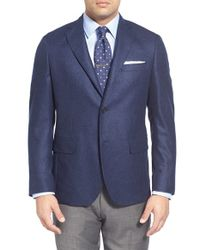 John W. Nordstrom | Blue Classic Fit Solid Cashmere Sport Coat for Men | Lyst