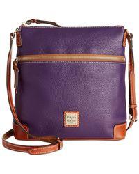 Dooney & Bourke   Purple Pebble Crossbody   Lyst