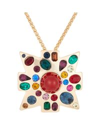 Kenneth Jay Lane - Metallic Women's Maltese Cross Pendant Necklace - Lyst