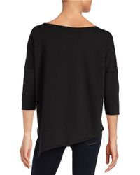 Betsey Johnson | Black Asymmetrical Sweatshirt | Lyst