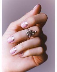 Free People | Metallic We Who Prey Womens Melting Rose Midi Ring | Lyst