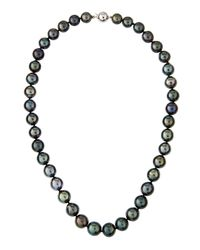 Belpearl | Gray 14k Graduated Tahitian Pearl Necklace | Lyst