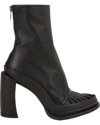 Ann Demeulemeester | Black Cutoutvamp Platform Ankle Boots | Lyst