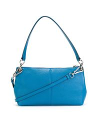 COACH | Blue Embossed Logo Cross Body Bag | Lyst