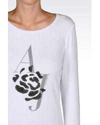Armani Jeans - White Print T-shirt - Lyst
