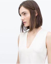 Zara | White Technical Top | Lyst