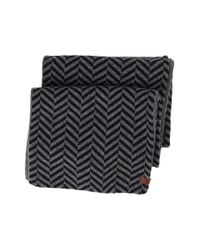 Ben Sherman | Black Reversible Chevron Knit Scarf for Men | Lyst