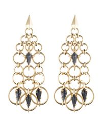 Alexis Bittar | Metallic Chainmail Chandelier Post Earring You Might Also Like | Lyst