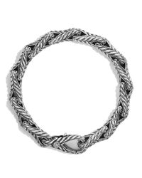 David Yurman | Metallic Chevron Figure-eight Large Link Bracelet for Men | Lyst