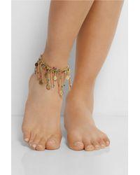 Rosantica - Blue Appeso Golddipped Multicolour Anklet - Lyst