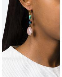 Isabel Marant | Metallic 'sandwish Stone Again' Earrings | Lyst