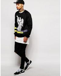 Cheats & Thieves - Black Stone Angels Crew Sweatshirt for Men - Lyst