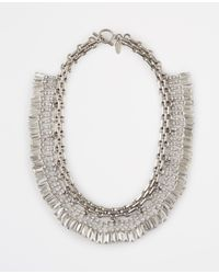 Ann Taylor | Metallic Crystal Baguette Collar | Lyst