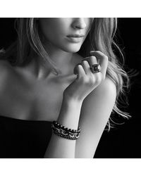 David Yurman - Metallic Albion Ring With Diamonds And Gold, 14mm Gemstone - Lyst