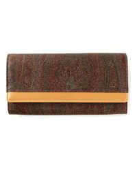 Etro | Brown Paisley Print Wallet | Lyst