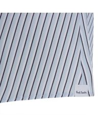 Paul Smith | Women'S Light Blue Patchwork-Stripe Cotton Shirt | Lyst