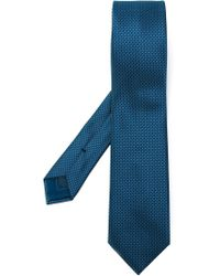 Brioni | Blue Dotted Tie for Men | Lyst