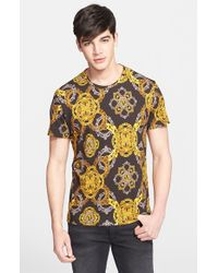 Versace Jeans - Black Baroque Print T-Shirt for Men - Lyst
