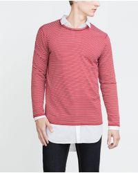 Zara | Red Striped Sweater for Men | Lyst