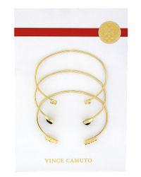 Vince Camuto | Metallic Jet Set Open Cuff Bracelet | Lyst