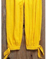 Free People - Vintage Yellow Jumpsuit - Lyst