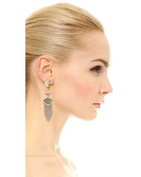 Alexis Bittar - Metallic Tasseled Clip On Chandelier Earrings - Lyst