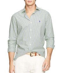 Polo Ralph Lauren | Green Checked Estate Sportshirt for Men | Lyst