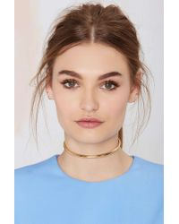 Nasty Gal - Metallic Anita K Barred For Life 18K Gold Collar Necklace - Lyst
