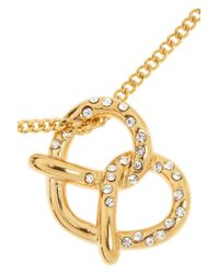 Marc By Marc Jacobs | Metallic Salty Pretzel Gold-Tone Cubic Zirconia Necklace | Lyst